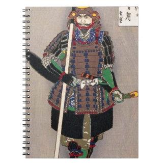 Samurai Yukimori 山中幸盛 by Yoshitoshi 月岡芳年 Spiral Notebook