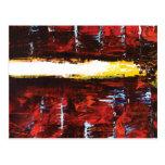 """San Andreas"" - Modern Abstract Art Post Cards"