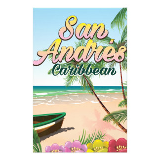 San Andrés island travel poster print Stationery