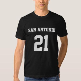 SAN ANTONIO #21 MEN'S BASIC AMERICAN APPAREL SHIRT