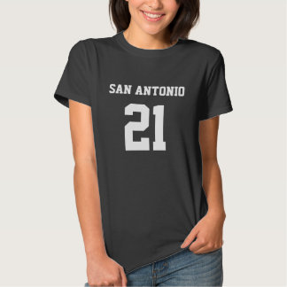 SAN ANTONIO #21 WOMEN'S HANES V-NECK T-SHIRT