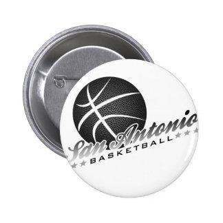 San Antonio Basketball 6 Cm Round Badge