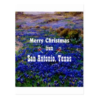 San Antonio Christmas Postcard
