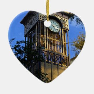 San Antonio Clock Ceramic Heart Decoration