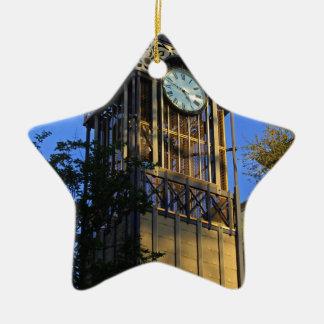 San Antonio Clock Ceramic Star Decoration