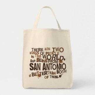 San Antonio (Funny) Gift Grocery Tote Bag
