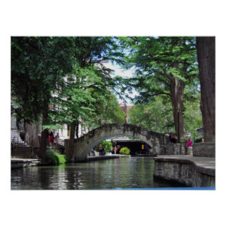 San Antonio River Walk Poster