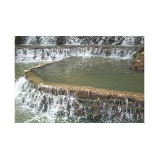 San Antonio River Walk Waterfall Canvas Print