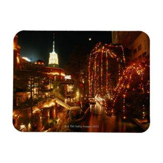 San Antonio Riverwalk at Night Rectangular Photo Magnet