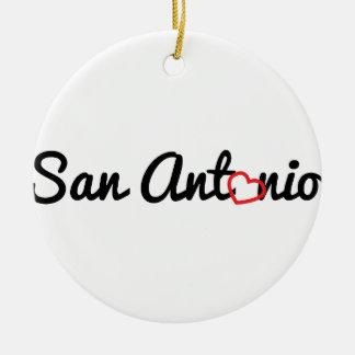 San Antonio Round Ceramic Decoration