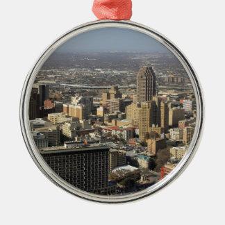 San Antonio Silver-Colored Round Decoration