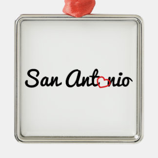San Antonio Silver-Colored Square Decoration