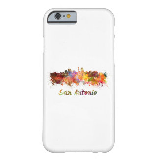 San Antonio skyline in watercolor Barely There iPhone 6 Case