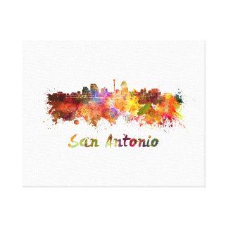 San Antonio skyline in watercolor Canvas Print