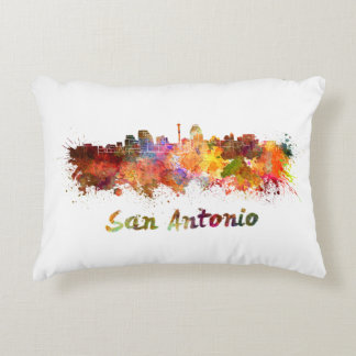 San Antonio skyline in watercolor Decorative Cushion