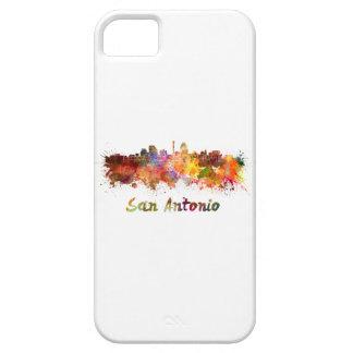 San Antonio skyline in watercolor iPhone 5 Case