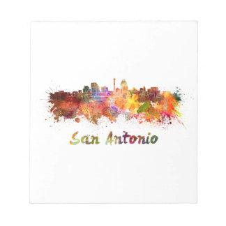 San Antonio skyline in watercolor Notepad