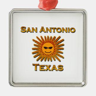 San Antonio Sun Icon Metal Ornament