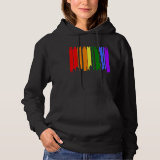 San Antonio Texas Gay Pride Rainbow Skyline Hoodie