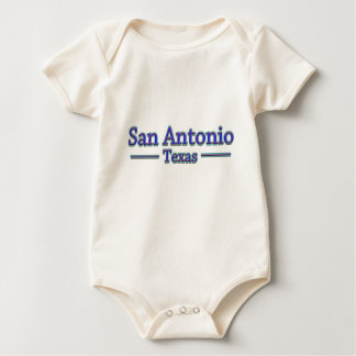 San Antonio Texas in Blue & Red Baby Bodysuit