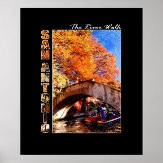 San Antonio, Texas:  River Walk Bridge Poster