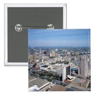 San Antonio Texas Skyline Button