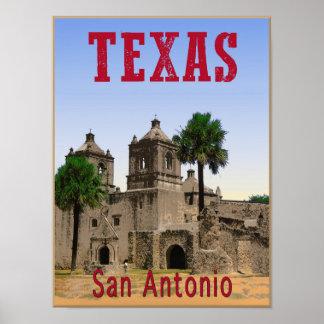 San Antonio, Texas travel poster