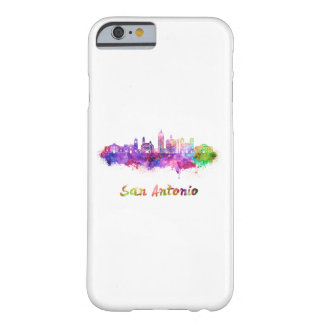 San Antonio V2 skyline in watercolor Barely There iPhone 6 Case