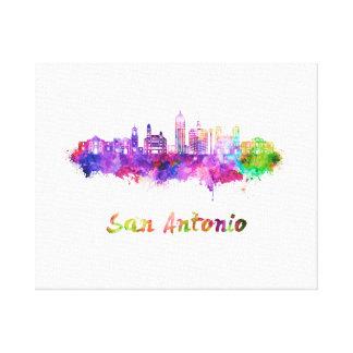 San Antonio V2 skyline in watercolor Canvas Print