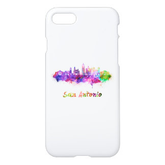 San Antonio V2 skyline in watercolor iPhone 8/7 Case