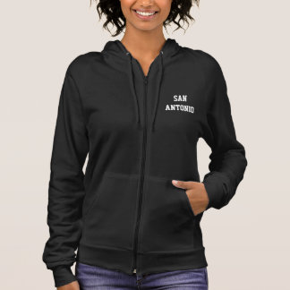 SAN ANTONIO WOMEN'S FLEECE SLEEVELESS ZIP HOODIE