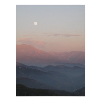 San Bernardino Mountain Moonrise Poster
