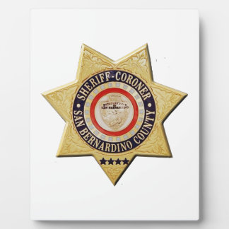 San Bernardino Sheriff-Coroner Plaques