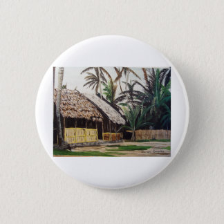 San Blas Islands, Panama WaterColor 6 Cm Round Badge
