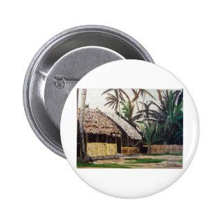 San Blas Islands, Panama WaterColor 6 Cm Round Badge