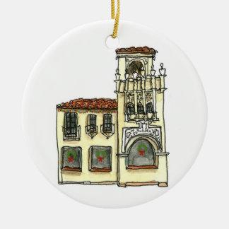 San Carlos California Ornament - Mission Building
