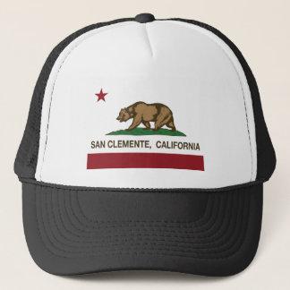 san clemente california flag trucker hat