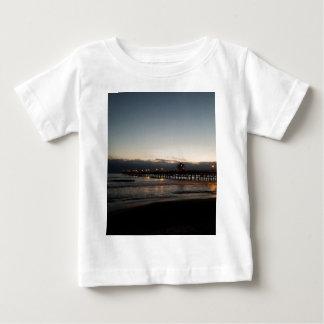 san clemente pier night time ocean california baby T-Shirt
