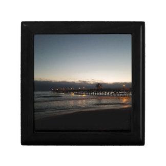 san clemente pier night time ocean california gift box