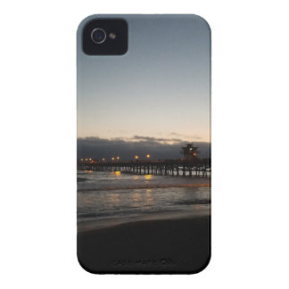 san clemente pier night time ocean california iPhone 4 cases