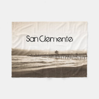 San Clemente pier vintage California photo Fleece Blanket