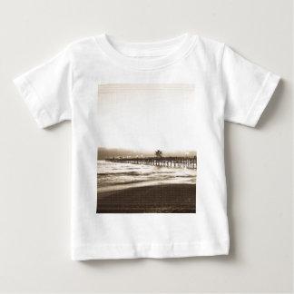 San Clemete pier California beach vintage photo Baby T-Shirt