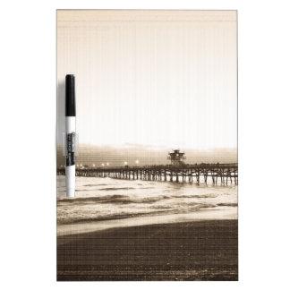 San Clemete pier California beach vintage photo Dry Erase Board