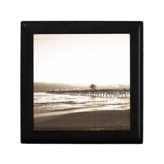 San Clemete pier California beach vintage photo Gift Box