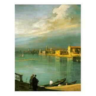 San Cristoforo, San Michele & Murano by Canaletto Postcard