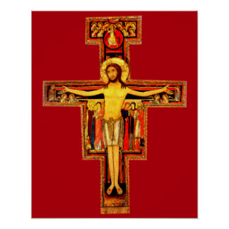 San Damiano Crucifix St Frances of Assisi Catholic Poster
