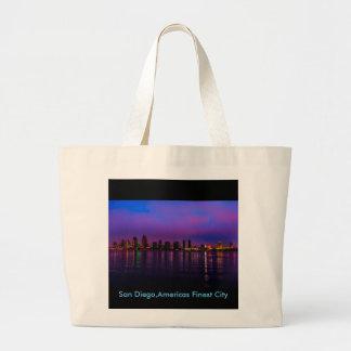 San Diego,Americas Finest City Jumbo Tote Bag