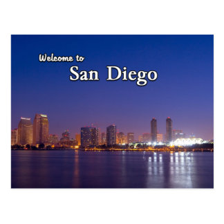 San Diego At Night Post Cards