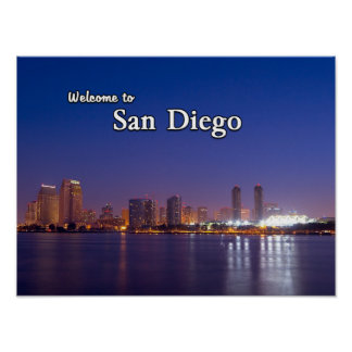 San Diego At Night Poster