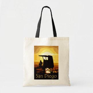 San Diego Beach Sunset Tote Bag